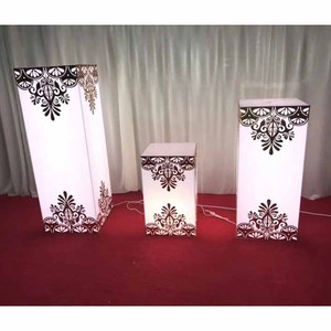 LDJ863 weddings plastic pillars plastic wedding pillars columns on sale