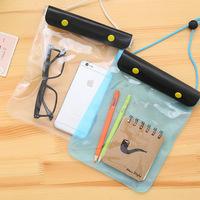 Large pvc clear plastic zip lock sling waterproof bag