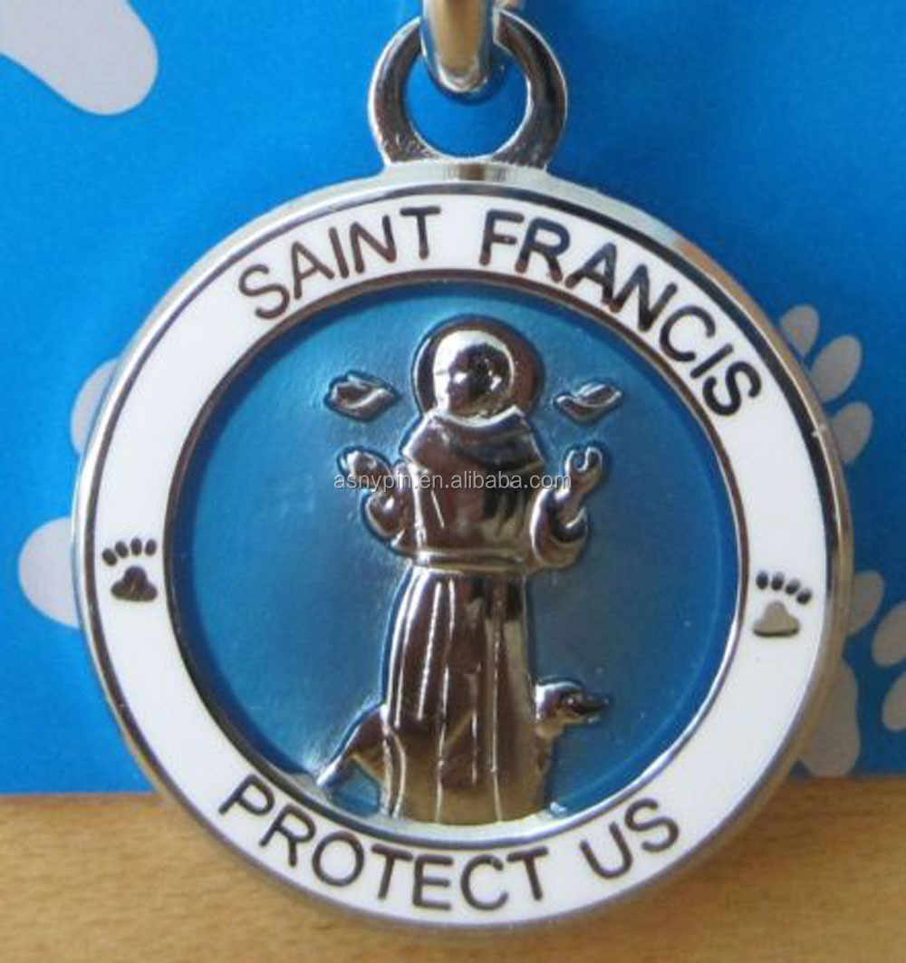 "Saint St Christopher Protect Us Catholic Medal 1"" Silver Plated Made In China!"