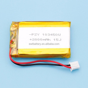 INDIA BIS certificate 3.7V 1800mAh 103450 Lithium Polymer Li-Po Rechargeable DIY Battery For Mp3 MP4 MP5 GPS 1003450
