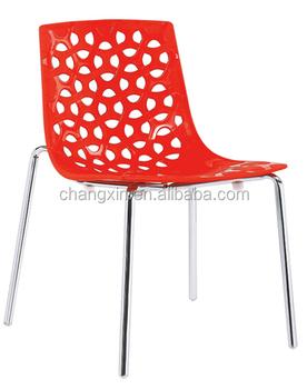 Günstige Kunststoff Stapelstuhl Café Stühle Mit Verchromtem Metall