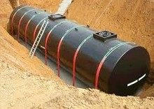 high quality large volume double wall or single wall underground gasoline storage tank from China