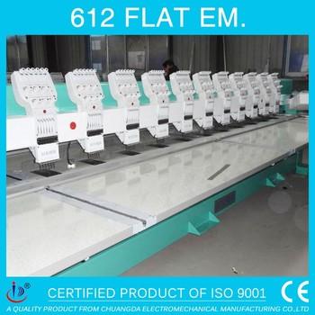 612 flat tajima computerized tajima embroidery machine 12