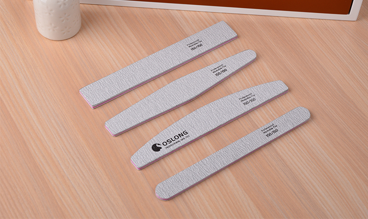 Professional Salon Manicure Tool for Natural Nails/ emery board nail file /zebra nail file