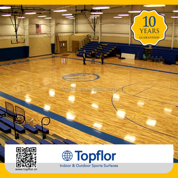 Cheap price indoor wood vinyl floor used basketball court for Indoor basketball court flooring cost