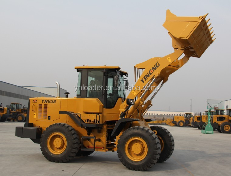 Hot sale CE provided 3 ton front wheel loader YN938 adopt Duetz engine 1.8cbm bucket capacity