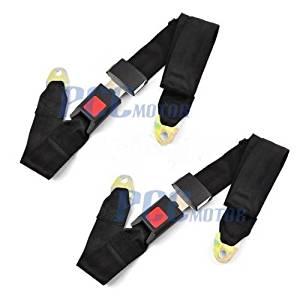 5a5139fc1a7d Get Quotations · 1E 2 Set Two point Seat Saftey Belt Harness Kit Go Kart  UTV Single Double BT11