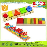 Preschool Shape Wooden Puzzle Educational Teaching Aids Learning Wooden Toys For Kids