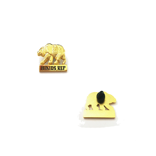 3D animal die cast pin, gold plated metal pin, pin for ornaments