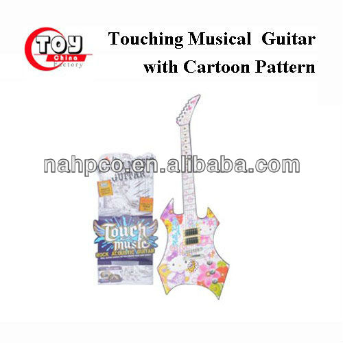 Touching Musical Guitar with Cartoon Pattern