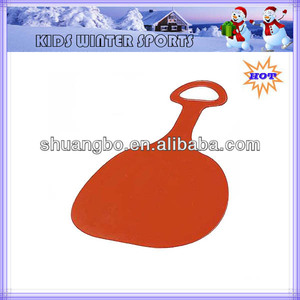 Free Shipping Red Plastic Snow Sleds for Kids
