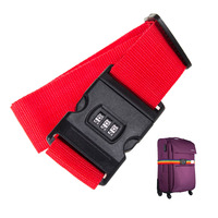Adjustable Safety Belt Luggage Strap Packing Travel Suitcase 3 Digits Password Lock Buckle Baggage Belts