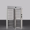 Automatic pedestrian access control system 304 stainless steel full height turnstile with RFID card/fingerprint reader