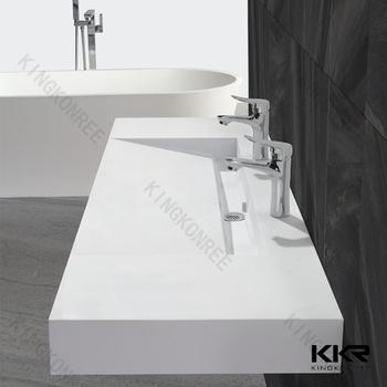 Kingkonree Small Size Integral Bathroom Vanity Sink/ Pink Bathroom ...