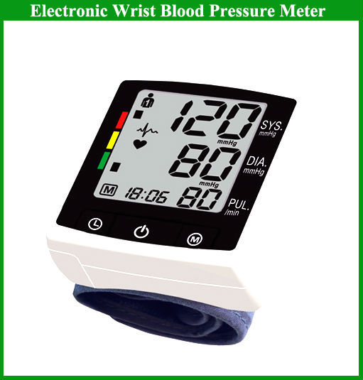 Home blood pressure monitor wrist type bpm