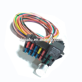 universal 14 circuit wiring harness fuse holder high quality universal  muscle car""