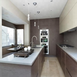 New design ready to assemble modern style modular kitchen with island