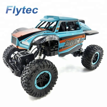Flytec SL - 115A 4WD Off - Road Racing Trucks Cars 2.4Ghz Radio Remote Control Cars Vehicle Electric Rock Crawler Car RTR (Blue)