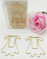 Hot Selling 4pcs Various Plastic Shaped Skirt Giant Rose Gold Metal Paper Clips Holder