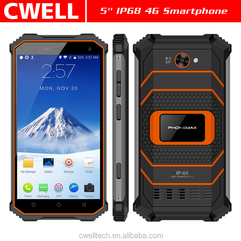 Factory Supplier 2018 New Product 4G LTE Rugged Smartphone 5 Inch IP68 Android 7.0 2GB 16GB rugged bar phone