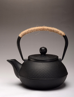 Black Cast Iron Teapot,0.9-1.2l Top Quality Chinese Thick Cast ...