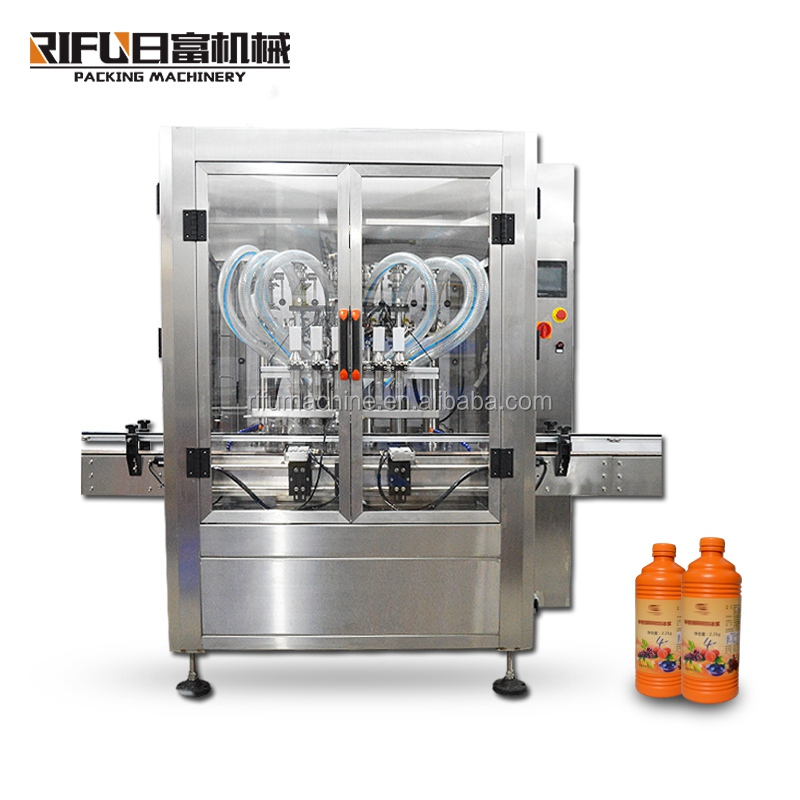 Plastic glass bottle sauce/fruit jam/jar honey filling machine Customized