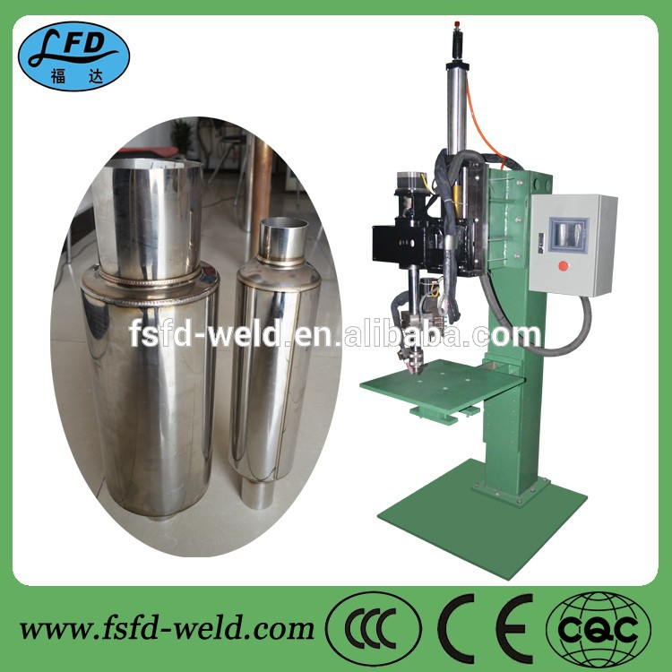 200w steel tube high frequency welding machine circumferential seam automatic TIG tube welder