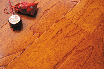 Rustic european engineered padauk solid wood flooring
