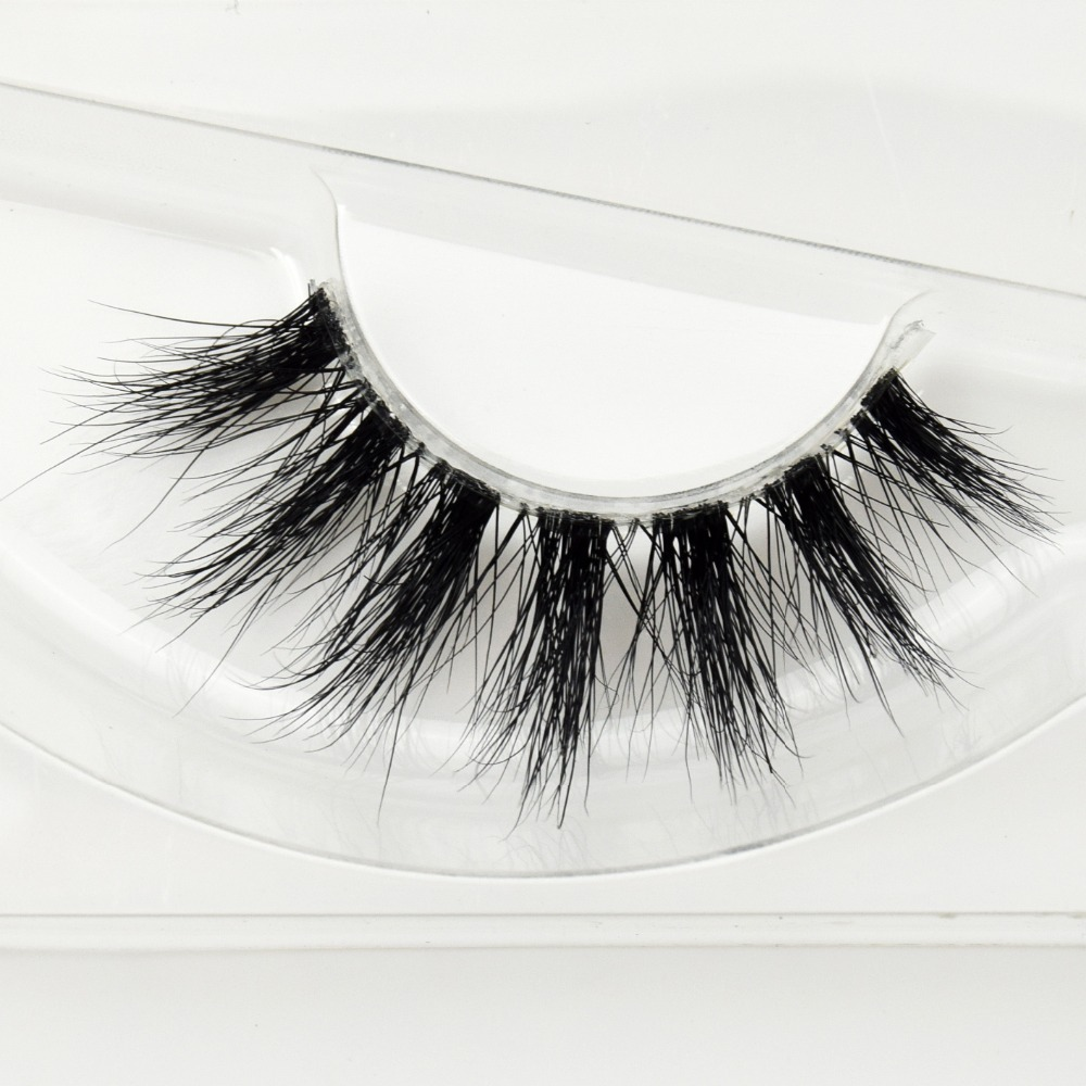 31cc73d12be Private label mink lashes clear band 3D Real Mink 100% Real Mink Fur False  Eyelashes F41