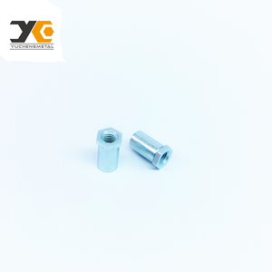 YUCHENG spare part hex nut plating with zinc colour