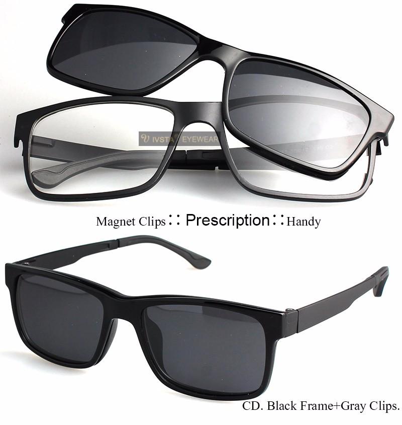 025fbe4b20 Wholesale Ivsta Include Frame Polarized Clip On Sunglasses Men Tr90 Custom  Prescription Lenses ... Magnetic ...