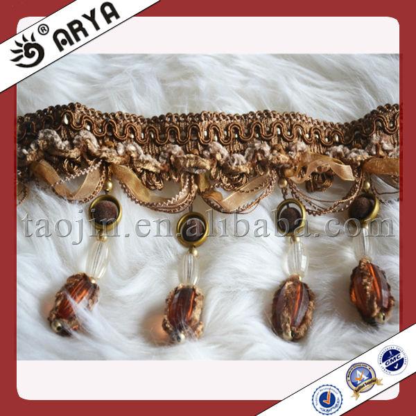Elegant Fashion Tassel Curtain Decoration Trim Fringe With Glass ...