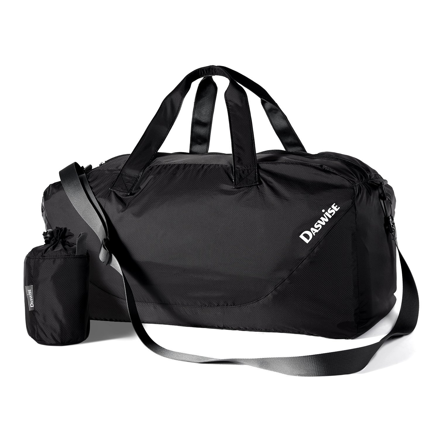 Duffel Bag Foldable, Daswise Travel Sporty Gear Bags with Pockets Keep Personal Documents, Phones & Other Essentials Safe - Best for Travelers & Gym Enthusiasts- Made of Tear-resistant Waterproof Nylon, Lightweight, Durable & Fashionable, 3 Colors