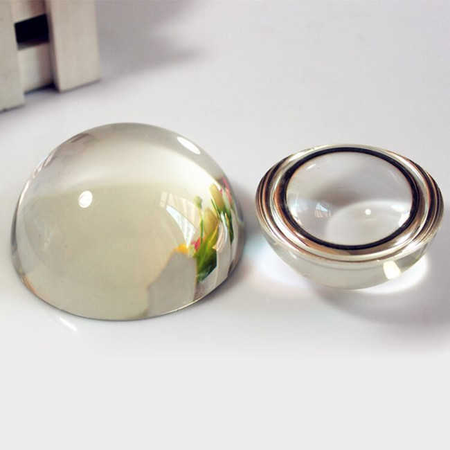80mm glass magnifying half ball dome paperweight crystal hemisphere blank ball for business gifts