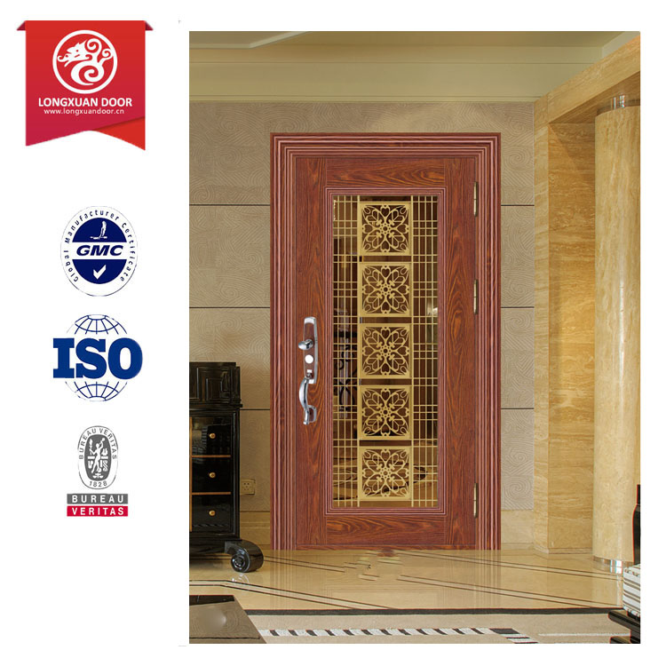 steel flush entrance unit with Knock-down frame/satin chrome finish door/highest quality Galvanneal steel