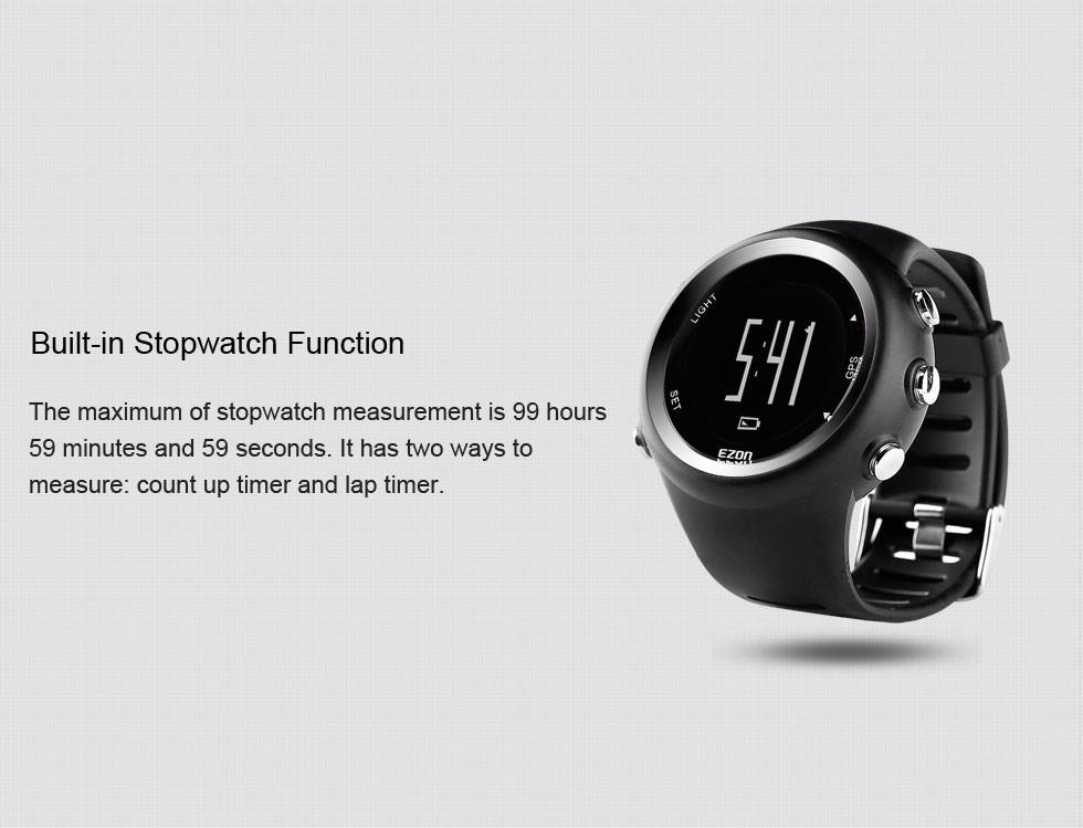 896cabd9456 EZON T031 GPS Timing Digital Watch Outdoor Sport Multifunction ...