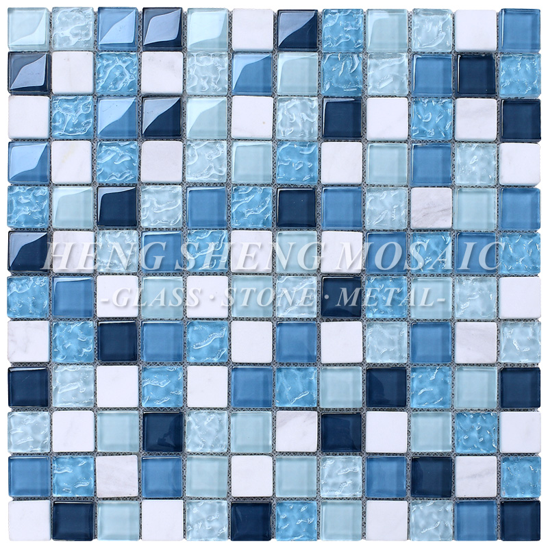 Non-slip Swimming Pool Tile Blue Mixed White Competitive Prices Mosaic -  Buy Swimming Pool Tile Blue,Non-slip Swimming Pool Tiles,Mosaic Tiles ...