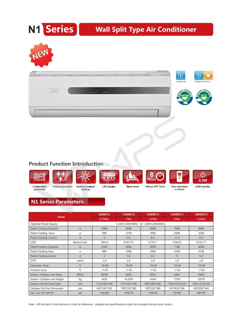 Mini 1 5 Ton Wall Split Inverter Air Conditioner With Ce