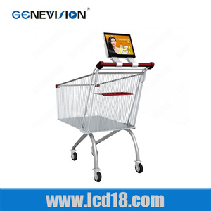 10.1 inch free video full hd 1080P Supermarket shopping cart advertising player online video