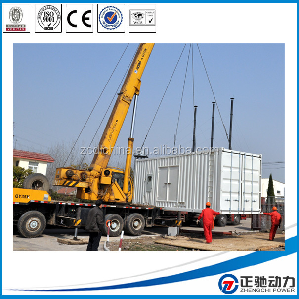 400kw/500kva open set diesel generator and with sound proof attenuator