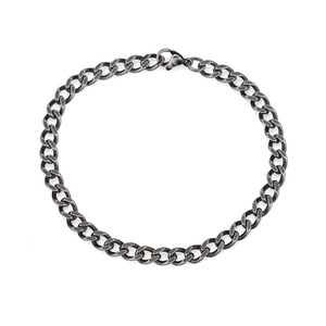Sterling Silver Stainless Steel Chain and Bracelet for men