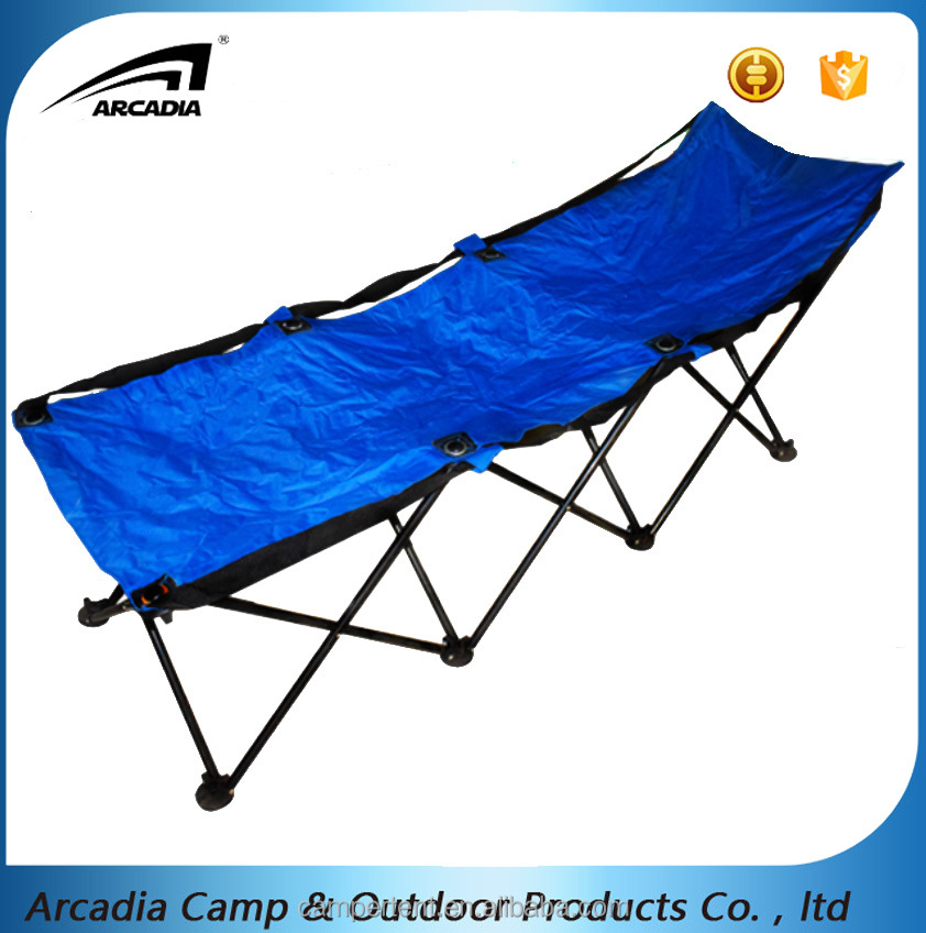 Outdoor camping eight-legged oxford folding cot bed with steel pole