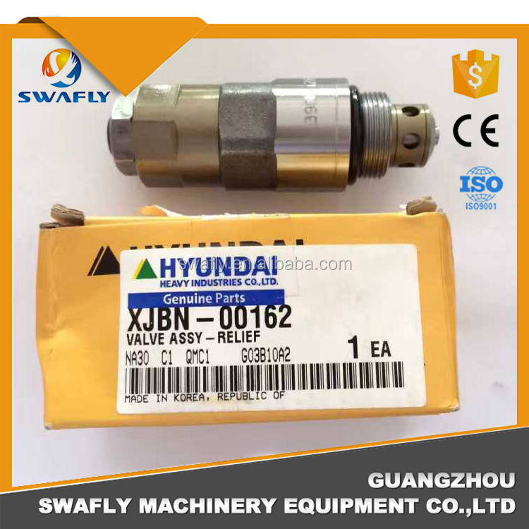 Hyundai Excavator Parts XJBN-00162 Hydraulic Relief Valve, R210LC-7 R250LC-7A R290LC-7 Main Control Relief Valve