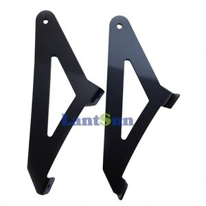 "B50 steel black straight 50"" led upper windshield mounting brackets for 2014 2015 chevy silverado"