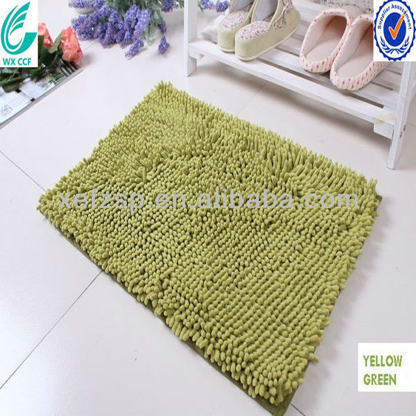 Delicieux Light Green Microfiber Chenille Washable Custom Size Bath Rugs