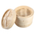 Handle bamboo food container steaming steamer basket