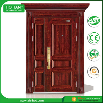 Metal Double Doors villa apartment gate steel door metal double doors exterior gate