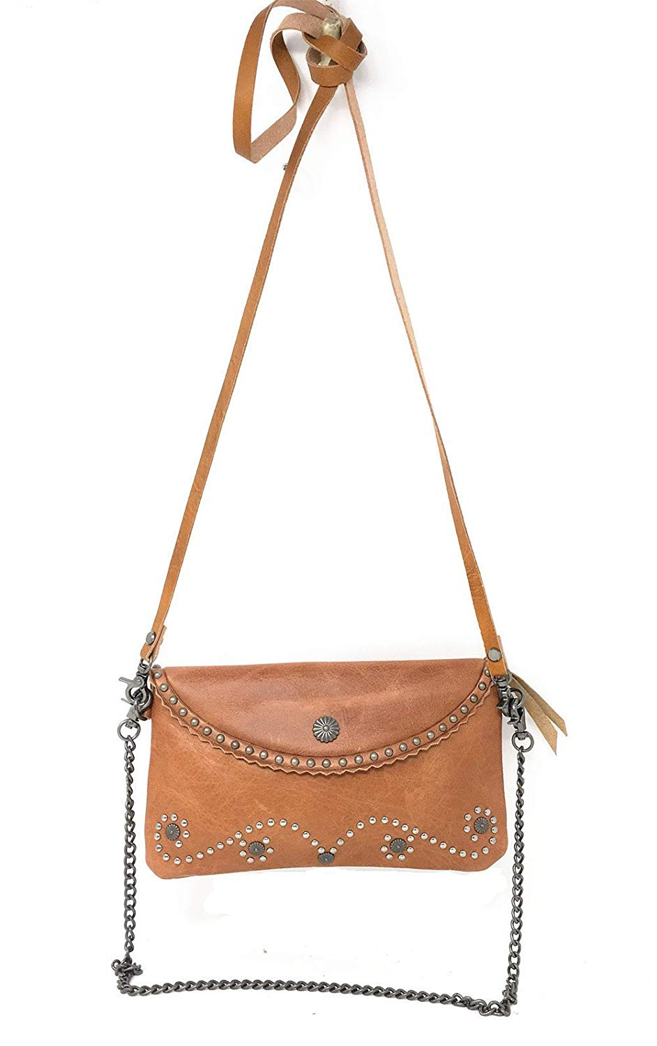 Texas West Genuine Leather Womens Clutch Crossbody Floral Tooled Purse Wallet In 3 Colors
