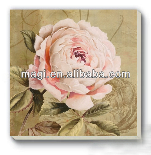 Hot Sale Single Pink Flower Oil Painting