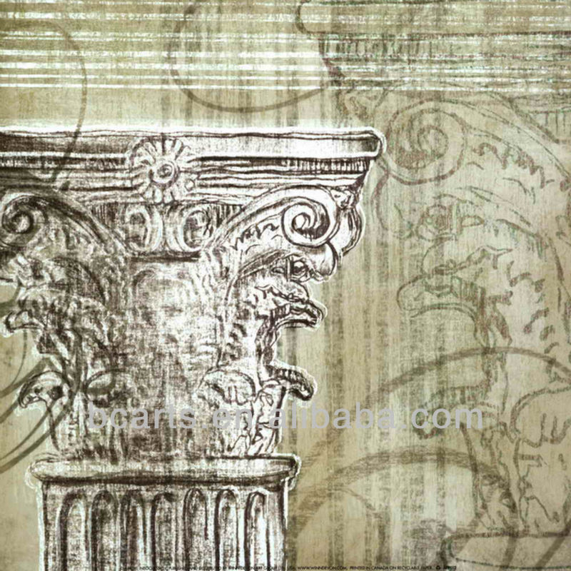 Classical Greek Architecture Art Painting On Canvas,Home ...